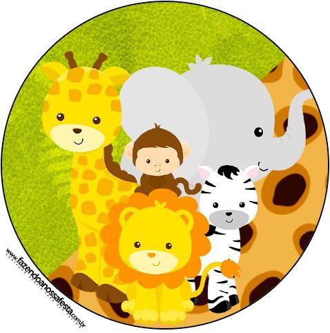 Super NOVIDADE! Lindo kit digital para fazer uma super festa com o tema Safari!