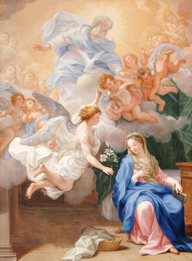 Архангел Гавриил и Дева Мария, картина раскраска по номерам, своими руками, размер 40*50см, цена 750 руб.