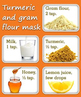 Turmeric and gram flour mask for glowing skin
