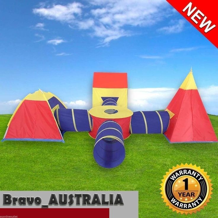 Childrens Toddlers Kids Babies Play Tent Tunnels Playground Teepee Cubby House