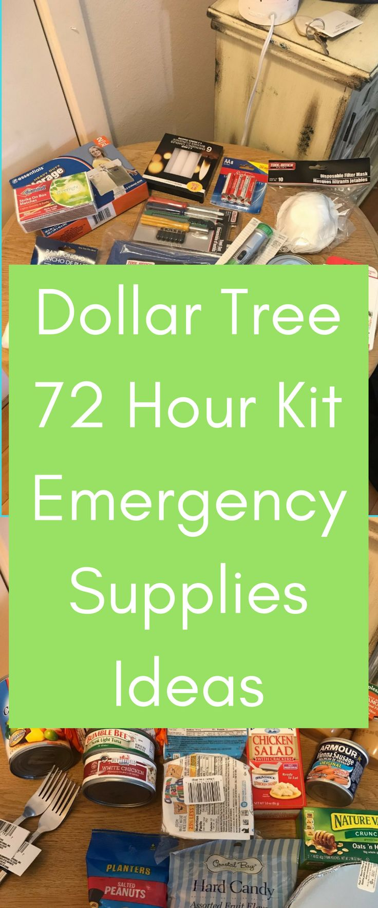Dollar Tree 72 Hour Kit / Dollar Tree Ideas / Dollar Tree Emergency Supplies / Emergency Prep / 72 Hour kit via @clarkscondensed