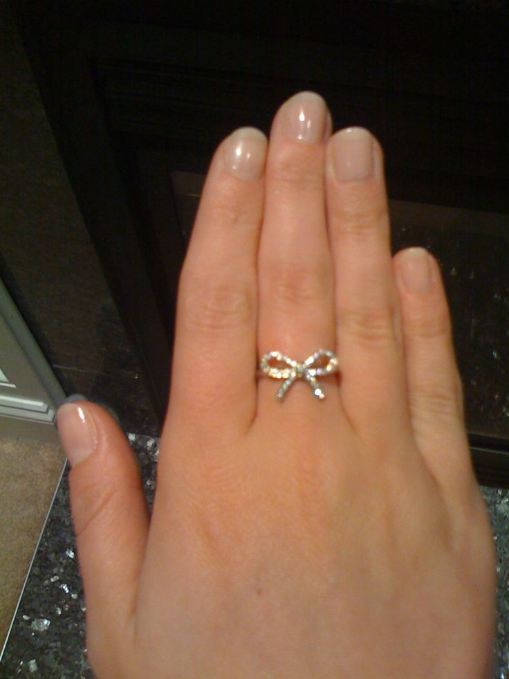 Tiffany Diamond Bow Ring Girls Best Friend Pinterest