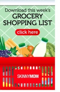 skinny mom meal planner with shopping list