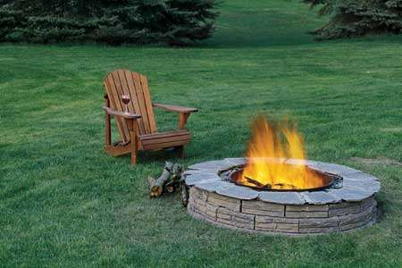 Build Your Own Backyard Fire Pit: Fire Pits, Adirondack Chairs, Idea, Backyard Bbq, Outdoor Fire Pit, Fire Pit Design, Backyard Fire Pit, Firepit, Back Yard