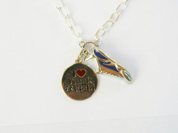 Track and Field Pendant Necklace22 inches by EllenEverydayJewelry, $11.00