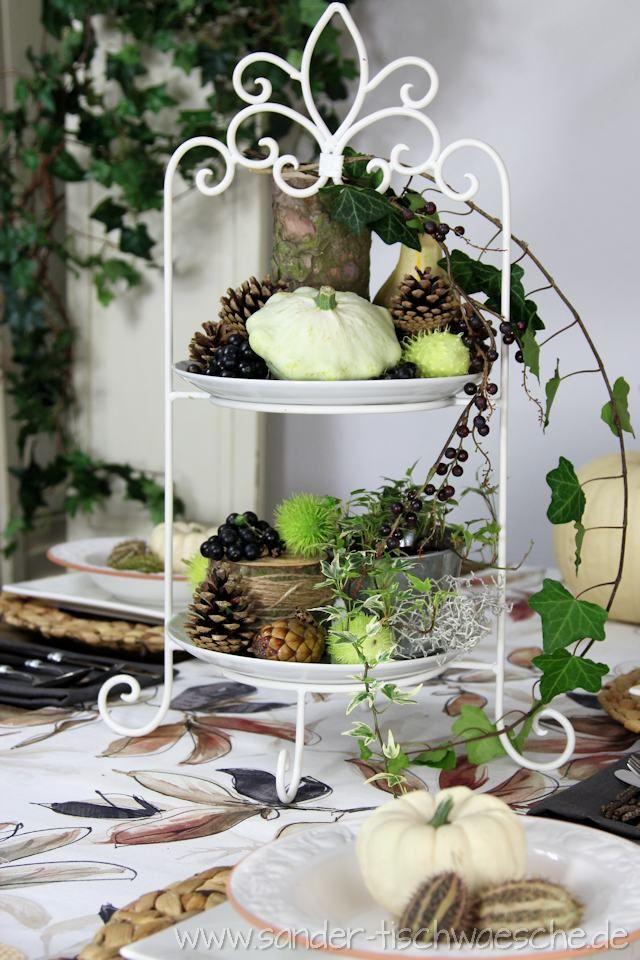 Tischdeko Herbstlich Dekorierte Etagere Herbst