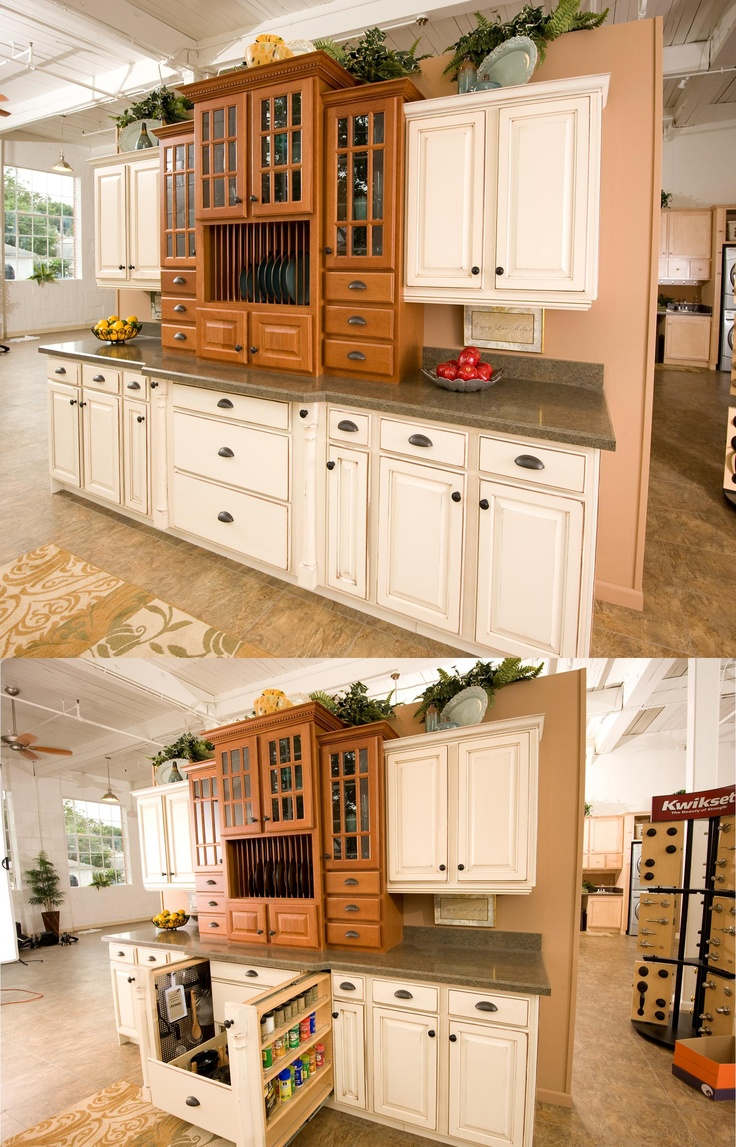 Kitchen craft cabinets atlanta - Not Into The Color Style Of These Cabinets But Like The Idea Of The Extra Hidden Storage