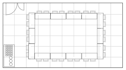 Boardroom style seating plan
