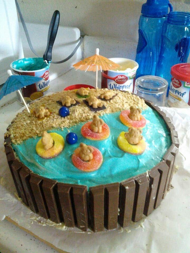 So cute! summer fun cake decorating idea!