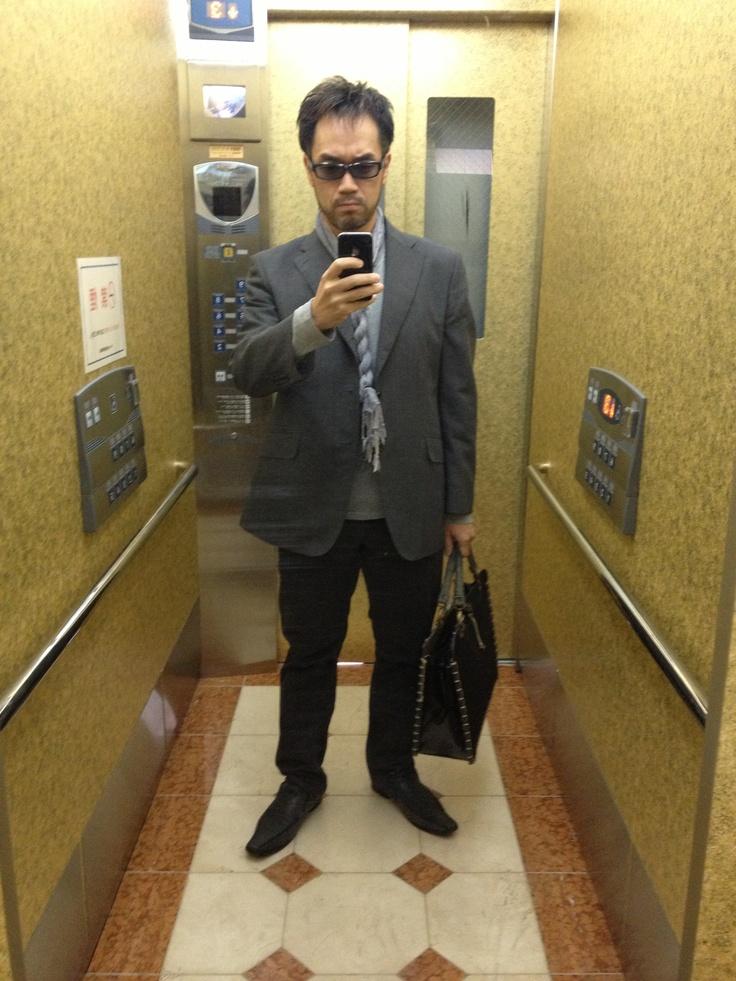 2012-11-08 Thu グレーの長袖Tとか。