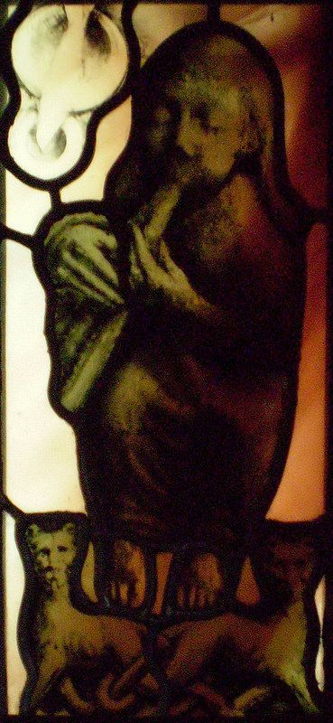 Adam's Lament. Stained Glass by Benjamin Finn