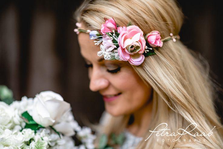 Haarschmuck & Kopfputz - C7 Boho Festival Haarkranz Blumenband Oktoberfest  - ein Designerstück von Perle-Wismer bei DaWanda