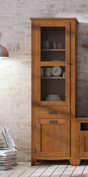 Vitrina colonial estrecha y de 210 cm de alto, para espacios en salones pequeños, visita nuestra sección de vitrinas en: http://rusticocolonial.es/mueble-colonial-de-gran-calidad-al-mejor-precio/muebles-de-salon-coloniales-de-gran-calidad-al-mejor-precio/vitrinas-coloniales-de-gran-calidad-al-mejor-precio