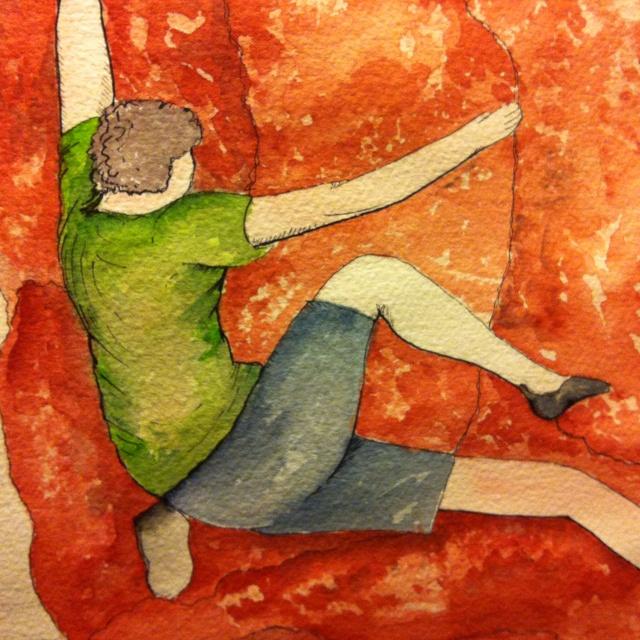 #watercolours #art #rockclimbing
