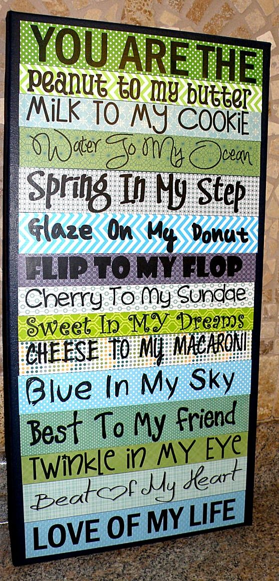 Boyfriend wall art- How to celebrate boyfriend day- with or without one!  Cute ideas!