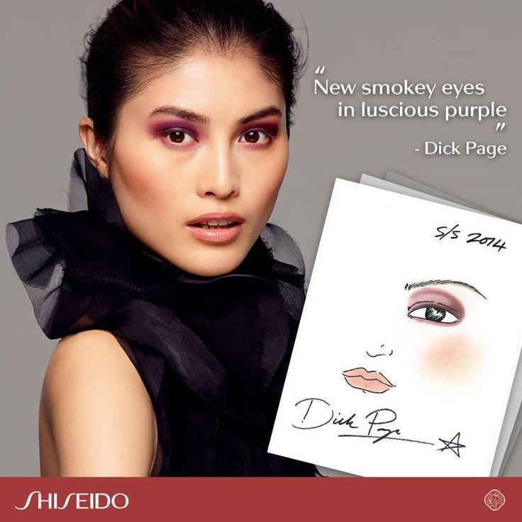 Sguardo magnetico, labbra luminosamente naturali: vi ricordate il look romantico di San Valentino 2014 firmato Dick Page www.shiseido.it