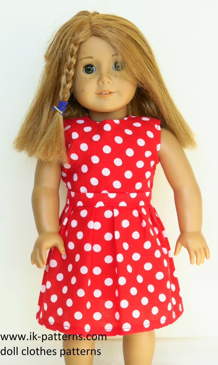 Doll Clothes Patterns By Valspierssews Review Of American: American Girl Doll In A Polka Dot Red & White Dress (Dress