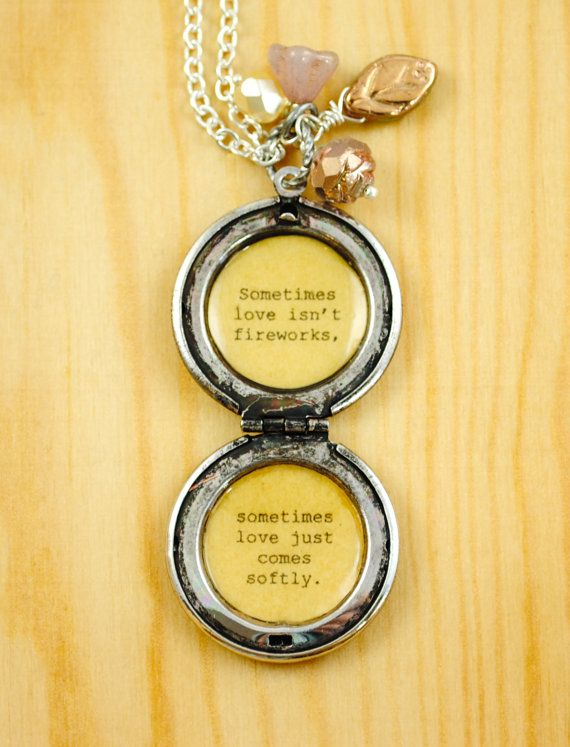 Love Comes Softly Quote Women's Locket by busybeezchickadeez