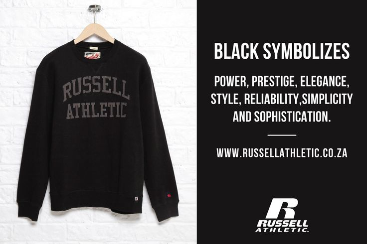 Everyone needs a little black number! Shop online now  www.russellathletic.co.za
