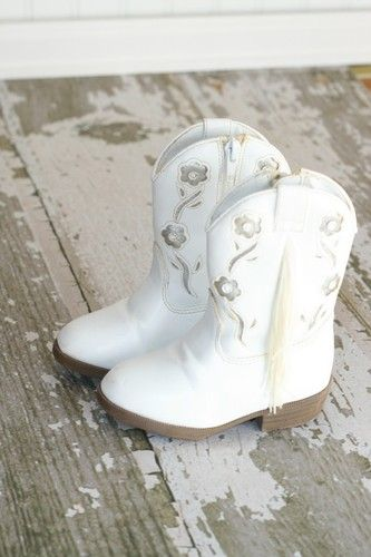White Cowgirl Boots Fringe Pagent | eBay