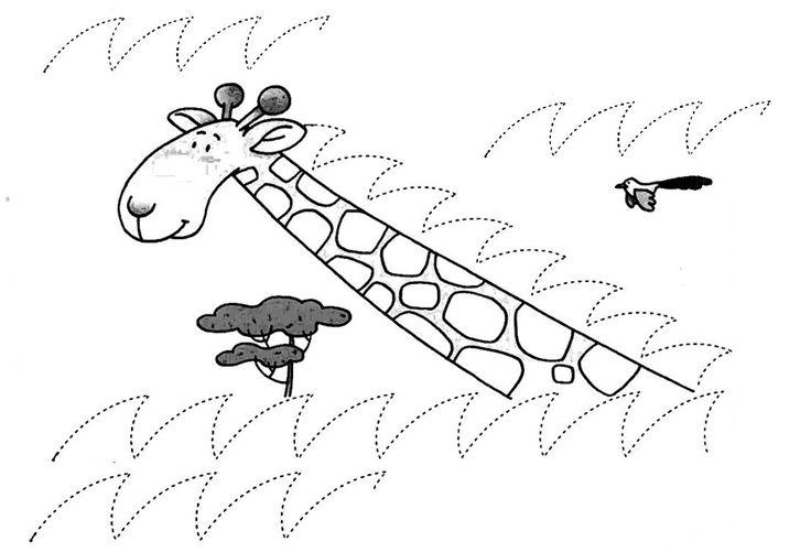 schrijfoefening giraffe
