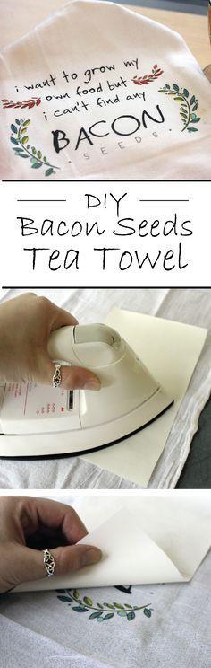Bacon Seeds Tea Towel - NuFun Activities