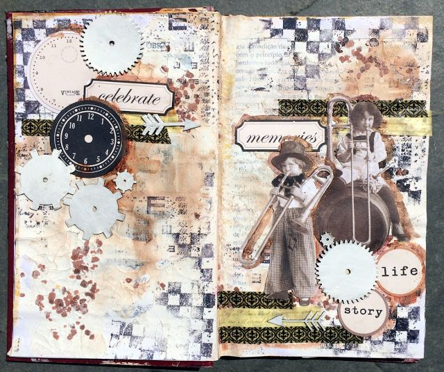 Vintage Art Journal Pages