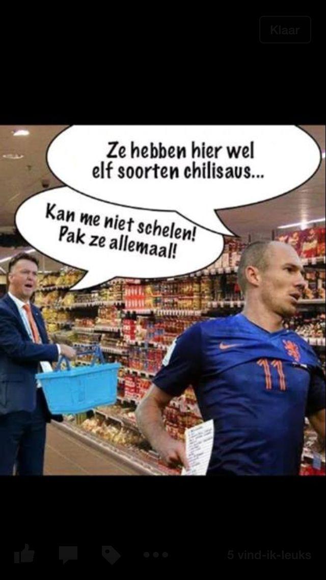 Nederland - Chili WK 2014, Chilisaus, Arjen Robben, Louis ...