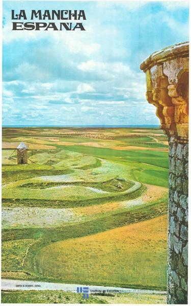 #Cartel de #Turismo del año 1969 que promociona los campos de Castilla La Mancha, en concreto los campos de #Belmonte en #Cuenca