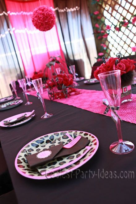 leopard and pink ideas | Coolest 4th Leopard Princess Birthday Party