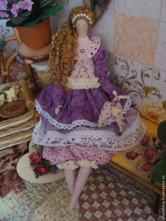 """Валери """"Мой милый колокольчик"""" (интерьерная кукла в стиле Тильда) - кукла ручной работы ♡"""