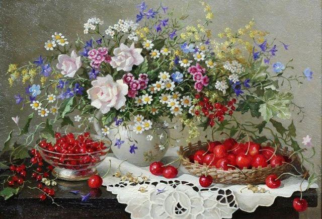 Lydia Datsenko - Still Life (Ukraine) ~ Artists and Art