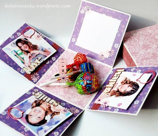 exploding box urodzinowy Violetta