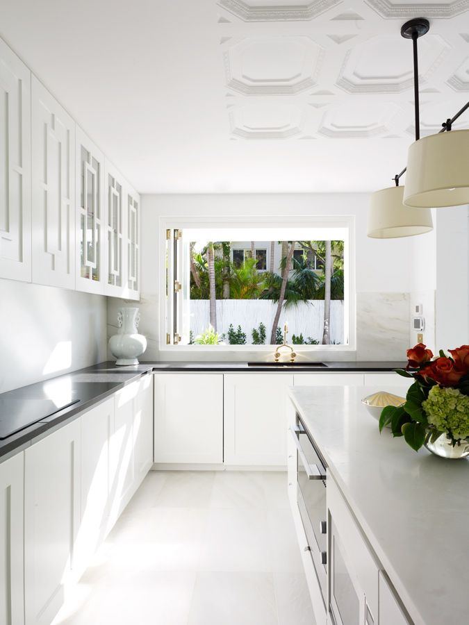 beautiful modern white kitchen