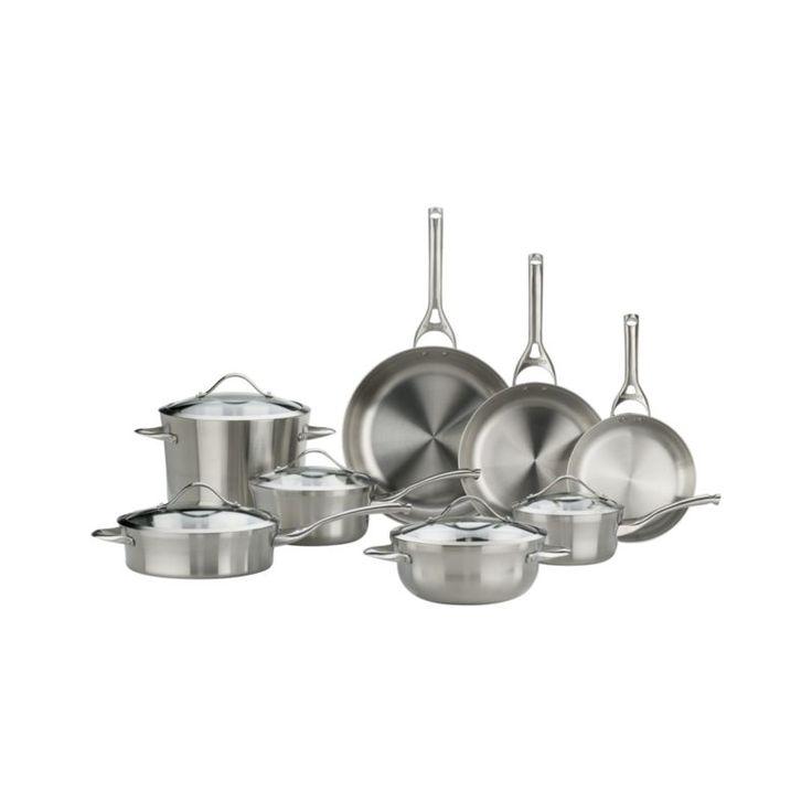 calphalon stainless 13piece cookware set with double bonus