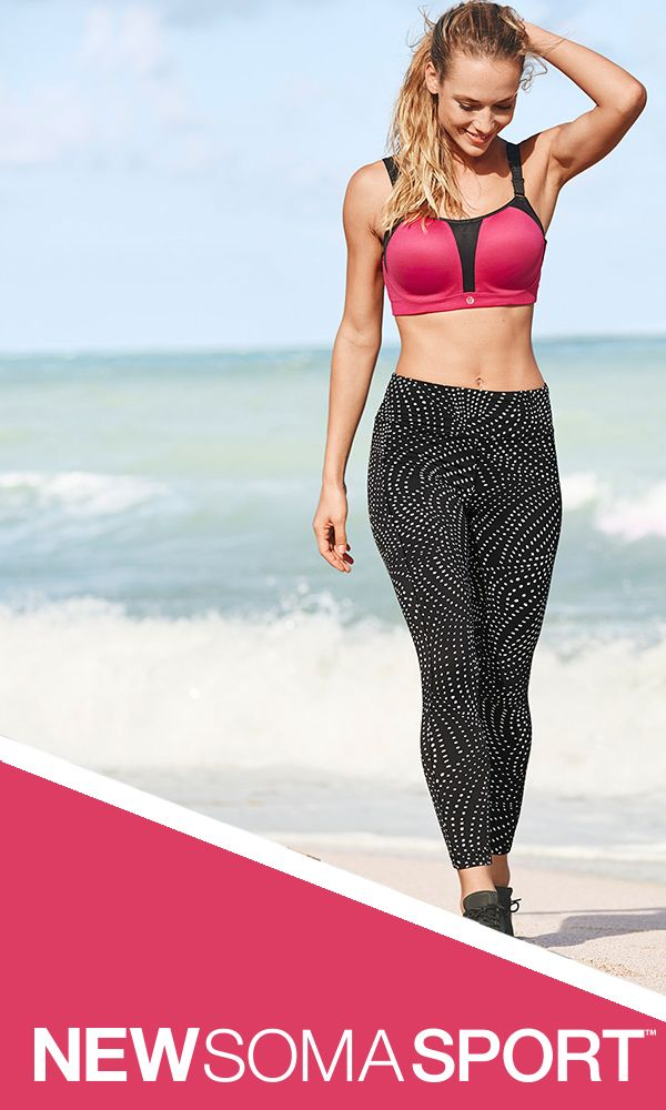New Year, New You! Out with the old, in with the new you. No excuses!  From the experts in bra fit comes a sport collection with technology, including new maximum support bras in 3 styles, sizes 32A-44G. Underwire, contour and wireless bras feature moisture wicking, quick dry fabric and breathable technology. Every woman can go from studio to street in style in versatile athleisure layers sizes XS-XXL including pants, sport leggings, tunics, tanks and jackets. WORK IT