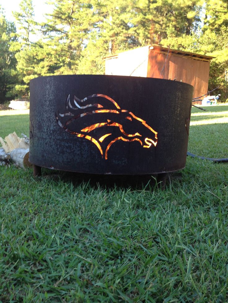 love the Bronco horse head on this fire ring!