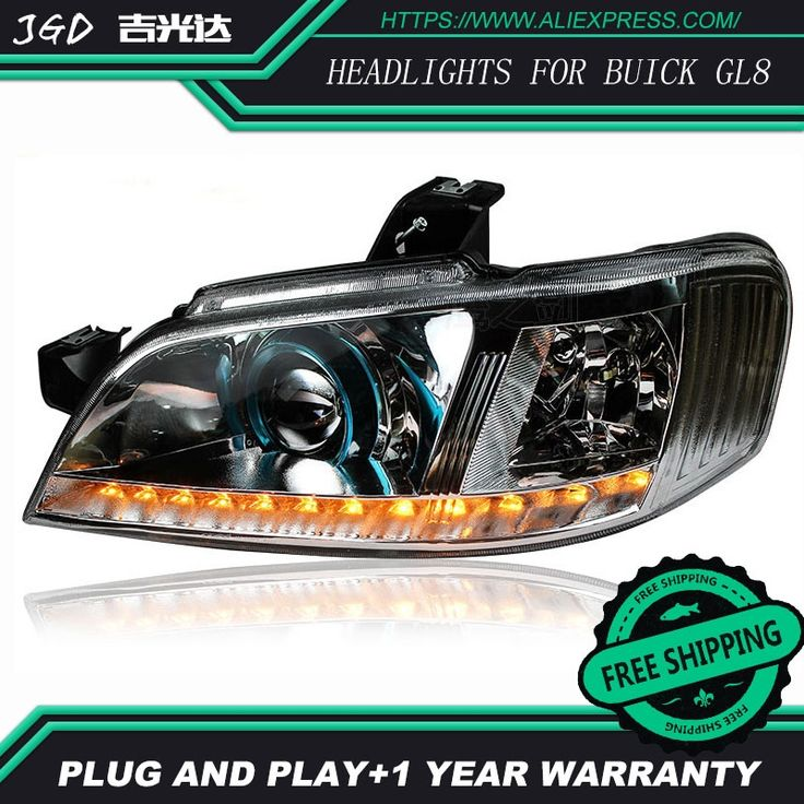 550.00$  Watch here  - Car Styling Head Lamp for Buick GL8 headlights 2004-2008 LED Headlight DRL Daytime Running Light Bi-Xenon Lens HID Accessories