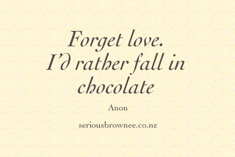 fall in chocolate