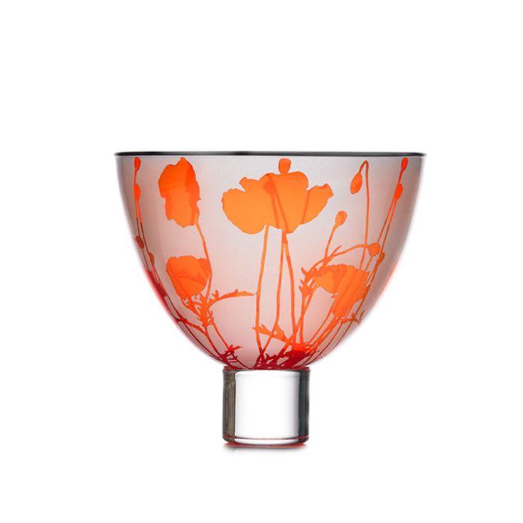 'Field Poppy Bowl' Art-Glass Bowl -  Limited Edition of 75 - September 2016 via Limited Edition Archive  @gilliesjonesglass.co.uk♥♥