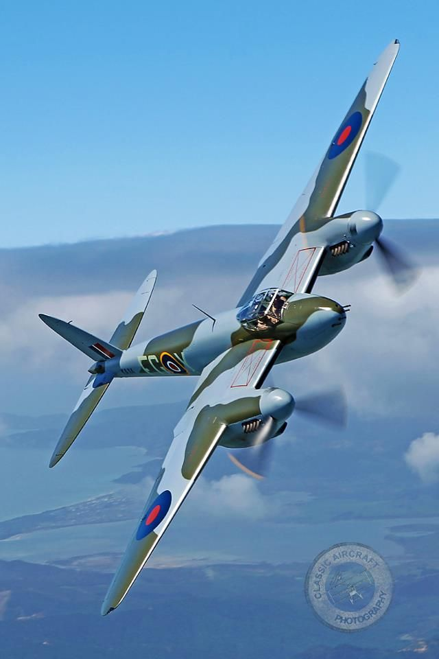 Mosquito - with two Merlin engines this precision fighter bomber was the next step from the Spitfire
