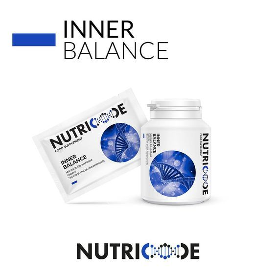 Nutricode Inner Balance Code: 801001 Visit the WebShop http://membersfm.com/michelle-brandon/Products Capacity: 60 SACHETS (240g) + 60 CAPSULES (30g) FOOD SUPPLEMENT that maintains the acid-base balance source of crucial microelements Monthly day-night system, 24-hour care to maintain the acidbase balance of the body.  - maintains the acid-base balance - source of crucial microelements  The Pack contains: - 60 day instant sachets lemon flavour - 240g - 60 night capsules - 30g
