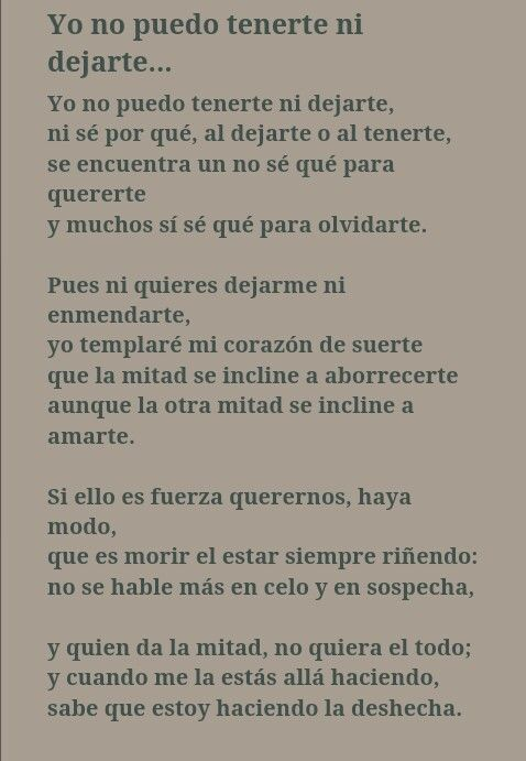 A mi amante. . . Sor Juana Ines de la Cruz