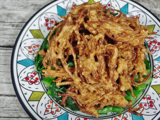 Fried Enoki Mushroom Recipe