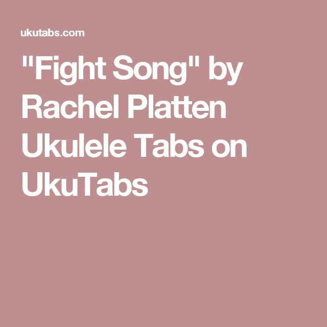 Ukulele ukulele tabs van morrison : 1000+ ideas about Fight Song Chords on Pinterest | Ukulele Chords ...