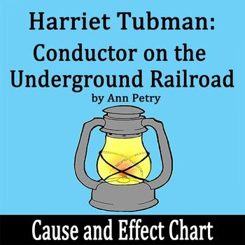 Harriet Tubman: Conductor on the Underground Railroad by Ann Petry - Cause & Effect Chart
