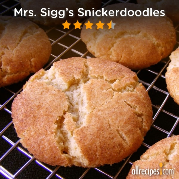"""""""This is THE best recipe for making snickerdoodles! I've made it at least a dozen times."""" –CookieMomster 