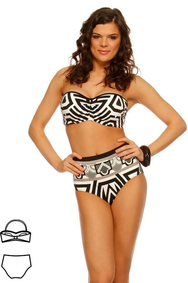 Bahama magasderekú bikini - fekete