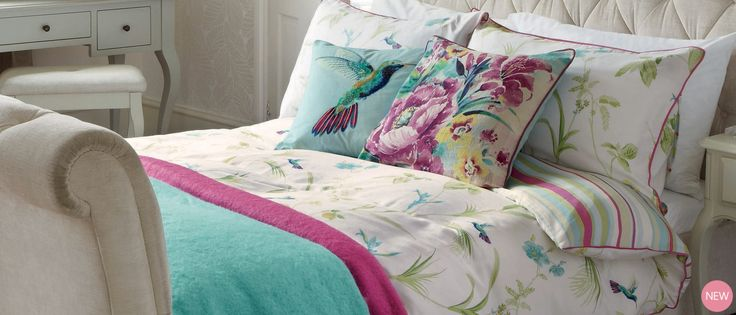 Orchid Print Duvet Cover at Laura Ashley