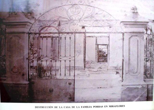 Miraflores también fue víctima de la soldadesca, que al igual que en Chorrillos, saqueó e incendió las casas que en ella había,